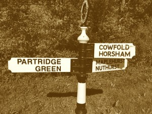 Sussex signpost